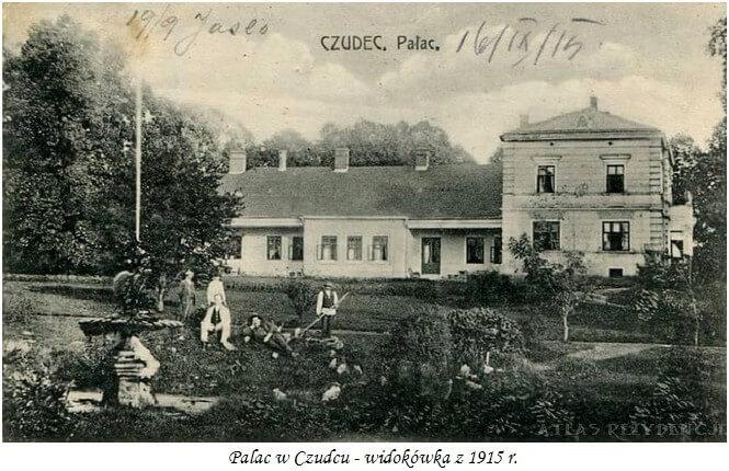 Pałac w Czudcu - pocztówka