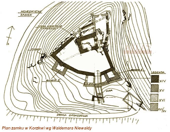 zamek_Korzkiew_plan