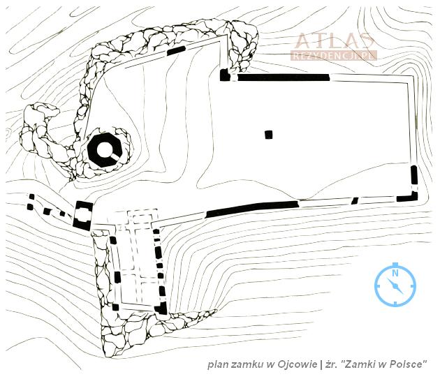 zamek_Ojców_plan