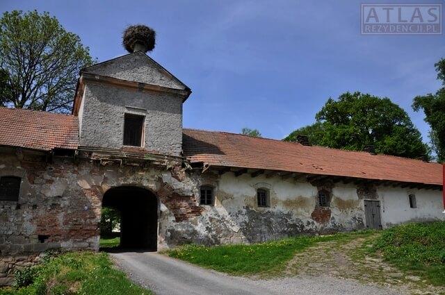 Stajnie dworskie w Wiśniowej