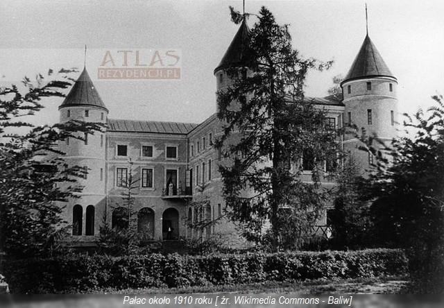 Wzdów pałac - foto z 1910r