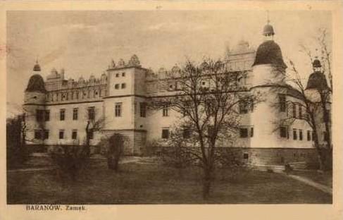 Baranów_Sandomierski_zamek_pocztówka
