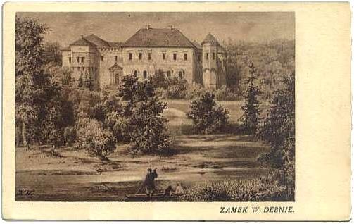 Dębno_zamek_widokówka_1930r