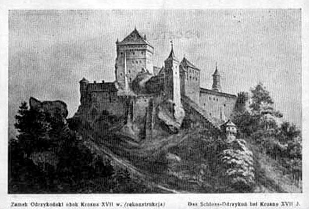 Zamek Odrzykoń pocztówka